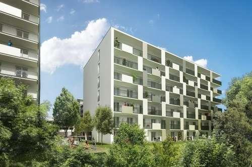 PROVISIONSFREI für den Mieter - Puntigam - Brauquartier - Erstbezug - 54m² - 2 Zimmer Wohnung - großer Balkon