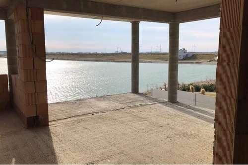 Preishit direkt am See! Seeblickwohnung mit eigenem Garten + Strand und Parkplätzen! Neubauprojekt mit 4 Eigentumswohnungen im Naturpark Kittsee!