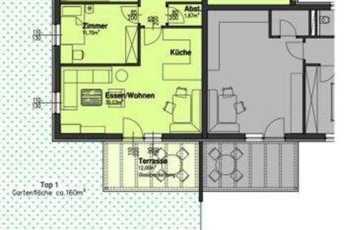 3-Zimmer-Gartenwohnung - Neubauprojekt - in Obermillstatt - Gemeinde Millstatt am See