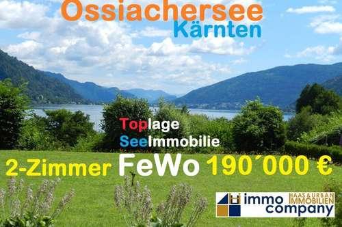 Top 2-Zimmer-Ferienwohnung am Ossiachersee mit Strand, Bootsanlegestelle und Tennisplätzen