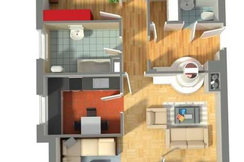 helle, freundliche 3-Zi-Eigentumswohnung mit Balkon