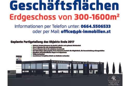 Gewerbeflächen zu vermieten von 300m² bis 1600m²