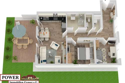 Wohnung mit Blick in den eigenen Garten!