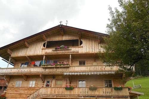 Wohnung im Bauernhaus in wunderschöner sonniger Alleinlage auf 1.200m Höhe mit Garten - direkt Skigebiet Hopfgarten