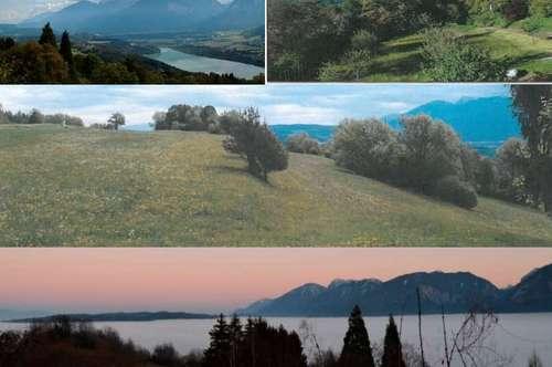 Exklusive Baugründe ( Landsitz, Villa, Natursitz) in (Klagenfurt Süd, Wörthersee Süd): Alleinlage  Traumausblick- 7km von Klagenfurt