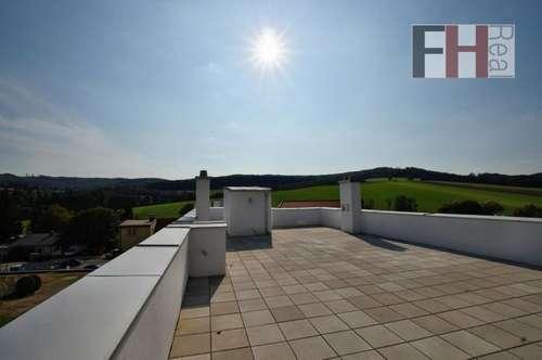 Exklusiver, provisionsfreier Erstbezug! Schöne 4 Zimmer-Wohnung im Eigentum, herrliche 120m² Dachterrasse, schlüsselfertig!