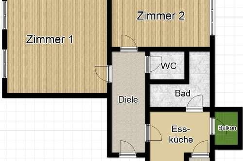 Schöne 2 Zimmer Wohnung mit Balkon in der Nähe der Josef Kirche! WG-fähig!