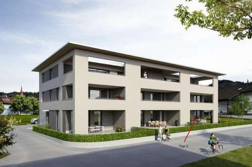 Drei-Zimmerwohnung im Erdgeschoss mit großzügiger Terrasse+Gartenanteil