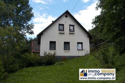 Vorau Bezirk Hartberg nettes kleines renovierungsbedürftiges Häuschen mit 79 m² Wfl.