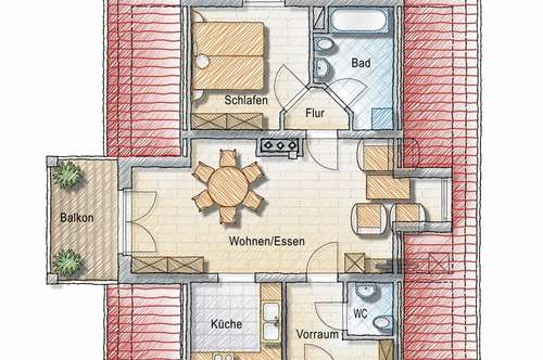 2 Zimmer Mietwohnung