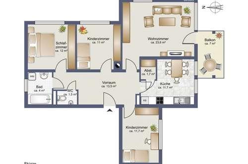 Traumhafte 4-Zimmer-Eigentumswohnung in Wolfsberg - Gries