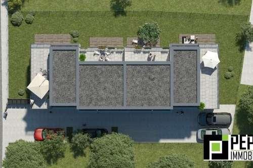 Ruhelage - nur 3.147 Euro / m²! Designer Reihenhäuser auf Eigengrund im 22.Bezirk - Rarität!