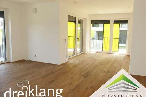 Sofort einziehen! DREIKLANG - 4 Zimmer EG-Wohnung mit umlaufender Terrasse!