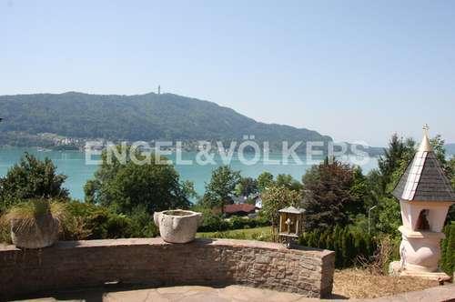 Villa am Nordufer mit traumhaftem See-und Karawankenblick