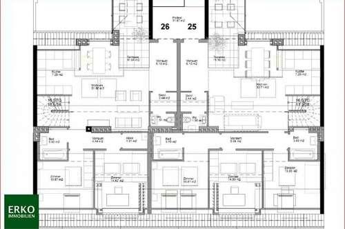 4 Zimmer DACHGESCHOSS MIT TERRASSE : nahe Rennweg / Hauptbahnhof / Schweizer Garten: derzeit in Edelrohbau !