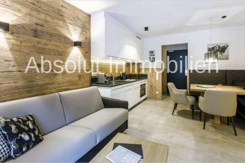 Stilvolles Luxus-Appartement in schöner, sonniger Lage in Saalbach. Ca. 47 m² Wfl., 1 SZ, Parkplatz