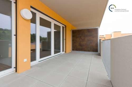 Neuwertige, großzügige 2 Zimmer Wohnung mit separater Küche und großem Balkon - 2 . Obergeschoß - Kärntner Straße 538 - Top 34