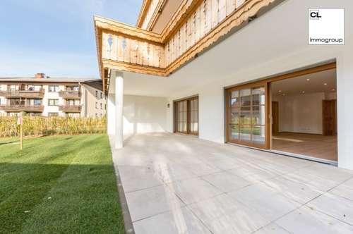 Extravagante Eigentumswohnung mit riesiger Gartenterrasse in grüner Ruhelage