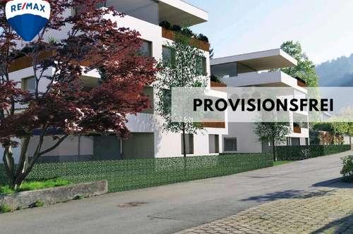 Neubau | Stilvolle 2 Zimmer Stadtwohnung mit ca. 80 m² Garten in Dornbirn