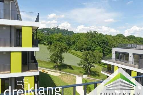 """Bezug ab sofort: Smarte Familienwohnung (3 Schlafzimmer!) im Projekt """"DREIKLANG"""" am Pöstlingberg"""