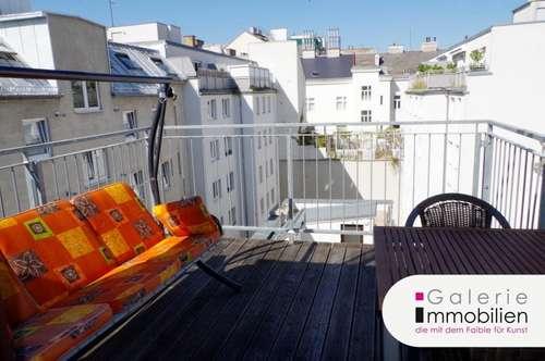 Möblierte sonnige DG-Wohnung mit großer Terrasse - barrierefrei