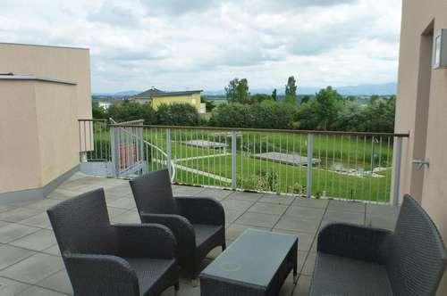 Traumhafte Mietwohnung Nähe Golfplatz Kematen an der Krems mit großzügiger Dachterrasse und Schwimmteich