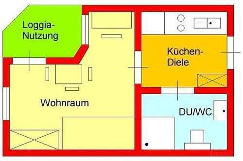 Schöne Garconniere mit neuer Küche, Balkon und Autoabstellplatz bei UNI/Hilmteich