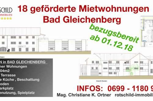 Es entstehen 18 geförderte Mietwohnungen nach Sanierung! 1-4 Zimmer, Balkone, Bad Gleichenberg