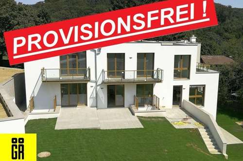 PROVISIONSFREI für Käufer - REIHENHAUS 4 Zimmer - RUHIGE LAGE - Wienerwald - NEUBAU - RH 3 - INKL. 4 TERRASSEN (1 x KG, 1xEG, 2xOG) - INKL. GARTEN - KFZ Tiefgarage - WÄRMEPUMPE - WOHNKELLER mit BAD - BELAGSFERTIG FERTIGGESTELLT