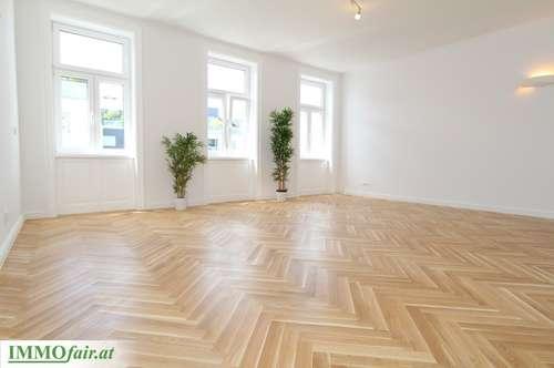 Nähe Arenbergpark - Großzügige Altbaumaisonette mit Loggia u. Hofterrasse - Residieren im stilvollen Gründerzeit Haus (Top 2-4 - Hoch-/Tiefparterre - 110m²+ Logg. u. Terr. - € 499.000,-)