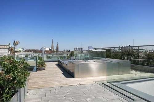Herrliches Penthouse am Burggarten mit sensationellem Blick - Miete 1010 Wien