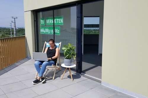 Neues Büro in modernem Bürohaus beim Bahnhof Deutsch-Wagram