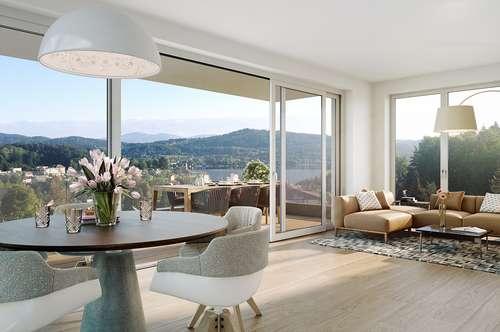 Panoramaperle - Reifnitz am Wörthersee! Sehenswertes Penthouse mit schönem Seeblick!