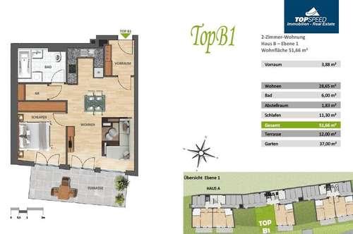 Alpine Wohnkultur für Anspruchsvolle - 51,66 m² Eigentumswohnung