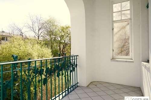 Bestlage! Repräsentative 5-Zimmer-Beletage mit Loggia und Grünblick im Pratercottage
