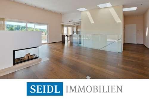 Lichtdurchflutetes Designer-Penthouse mit faszinierendem Bergblick