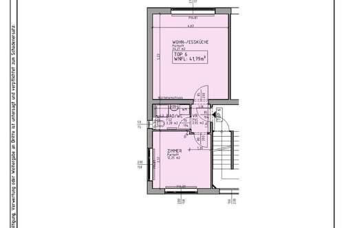 Mietwohnung mit 41,79 m² in Ofenbach bei Kirchberg am Wechsel.