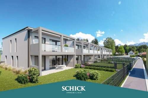 ECK-GARTENWOHNUNG   Wohnen an der Gail: Neubau - individuelle Raumplanung - 4 Zimmer - Tiefgarage