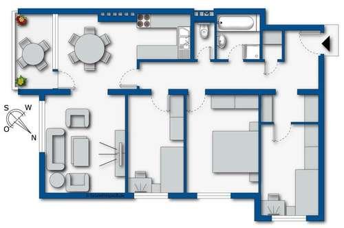 5-Zimmer Mietwohnung in Traisen, NÖ