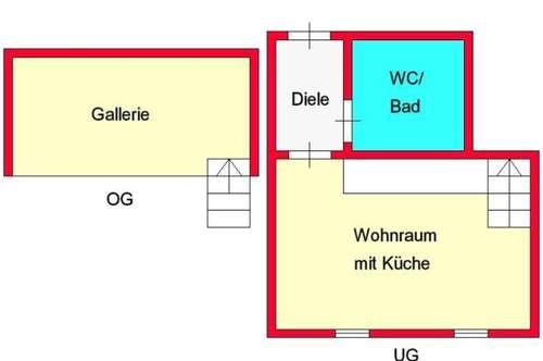 kleine Dachgeschoß-Galeriewohnung bei TU