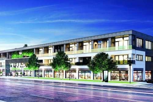 Geschäftsflächen von 100 m² bis 3000 m² in einem modernen Wohn- und Einkaufszentrum zu vermieten