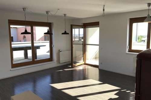 7121 Weiden am See, traumhafte 3-Zimmer-DG-Wohnung, große Süd/West Terrasse mit wunderschönem Seeblick!