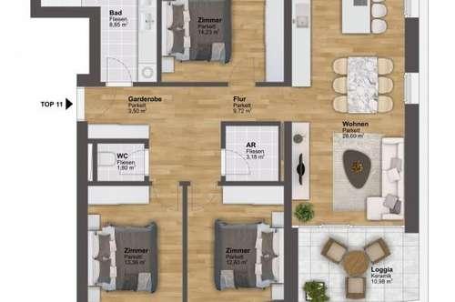 Marktgemeinde Irdning: Wohnerlebnis auf höchstem Niveau - 96m² Eigentumswohnung mit Lift!