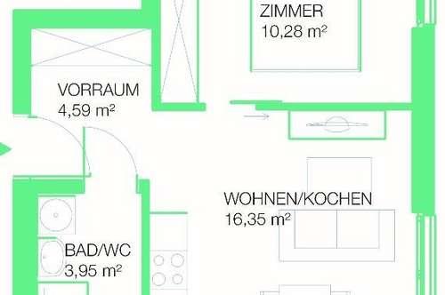 Anlegerwohnung mit perfekter Raumaufteilung - Studententraum- ab 156.000€ (netto)