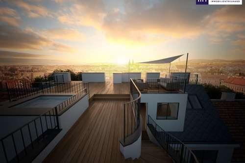 DAS HAT STIL!!! Erstbezug auf drei Ebenen und großen Terrassen + hochwertig saniertes Haus!!!