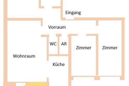 Ruhige 4 - Zimmer Wohnung in Gösting.