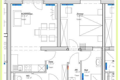 kleine perfekte geförderte Wohnung - Neubau - 1 Schlafzimmer, Balkon ab 1.12.2018