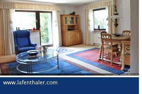 CHALET - Gartenwohnung direkt am GOLFPLATZ, mit DOPPELGARAGE, auch als Ferien-Zweitwohnsitz nutzbar