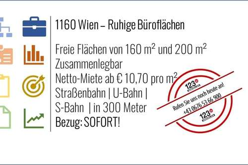 1160 Wien, Gepflegte Büroflächen in ruhiger Seitenstraße