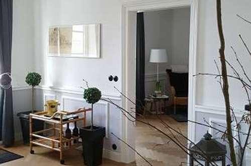 SBG/Maxglan : 2er-WG-geeignet / Möblierte 3,5-Zi.-Whg. mit Balkon und Gartenmitbenutzung in schönem Stadthaus